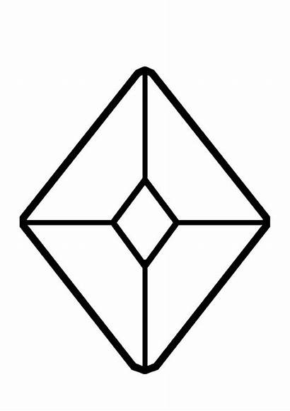 Diamond Coloring Shape Pages Jewel