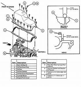 Oil Pan Gasket Diagram