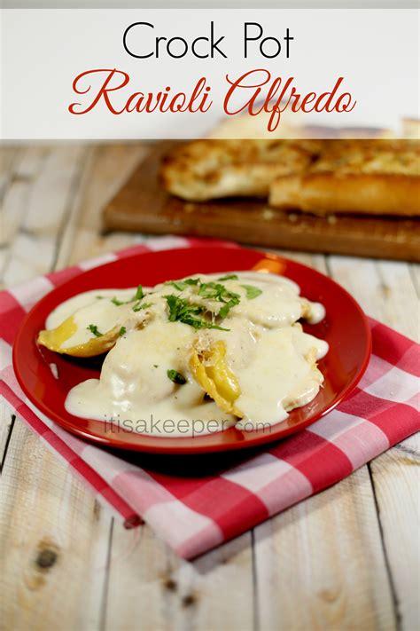 crock pot ravioli alfredo it is a keeper