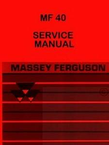 Massey Ferguson Mf 40 Mf40 Loader Service Manual