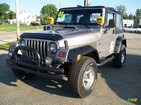 jeep metallic 2001 silverstone metallic jeep wrangler sport 4x4