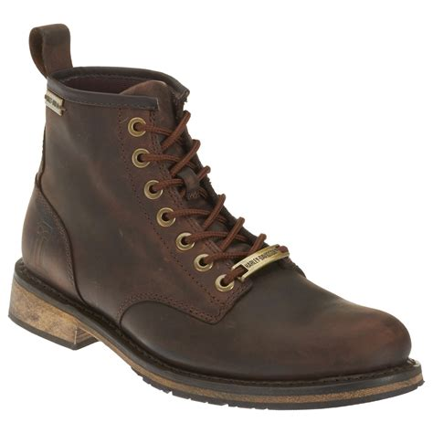 brown leather harley boots harley davidson mens darrol leather boots brown