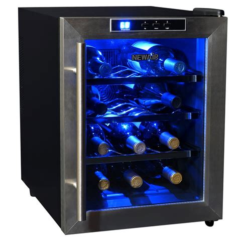 thermoelectric wine cooler newair aw 121e thermoelectric wine cooler 12 bottlewine