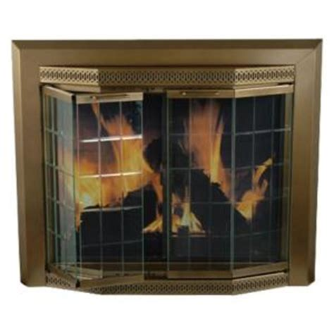 home depot fireplace doors pleasant hearth grandior bay large glass fireplace doors