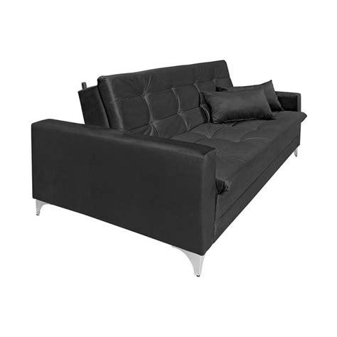 sofa veludo preto sof 225 cama casal facility veludo preto