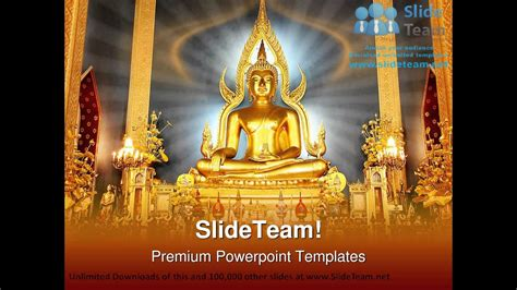 buddha religion powerpoint templates themes