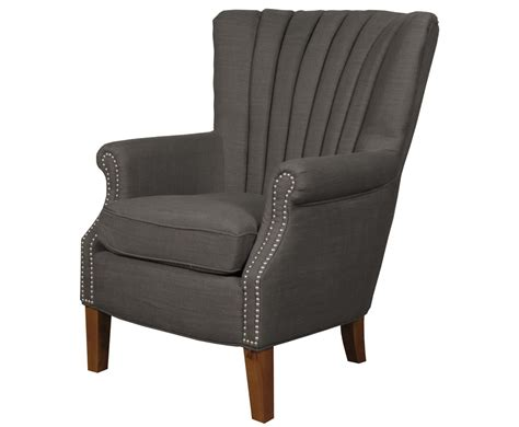 Fabric Armchair by Faringford Charcoal Fabric Fireside Armchair