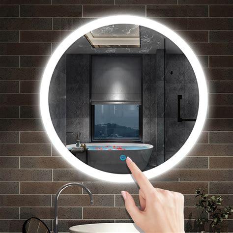 led bathroom wall mirror demister illuminated light