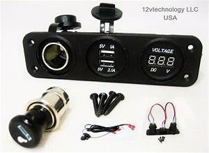 3 1 A Usb Charger   Voltmeter   12 Volt Cigarette Lighter