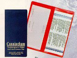 r 217 document holder With policy and document holder