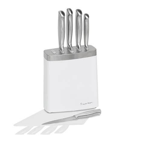 white kitchen knives white steel 6 knife block stanley rogers australia
