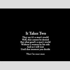 It Takes Two  Instrumental With Lyrics Youtube