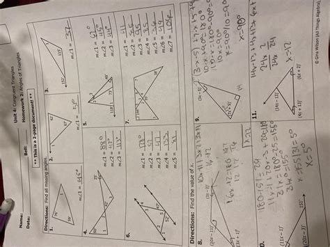 How do you start a proof? Unit 4: Congruent Triangles Homework 2: Angles of ...