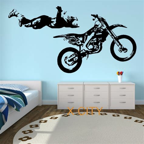 motocross stunt motorbike mx x cool creative wall sticker vinyl decal window