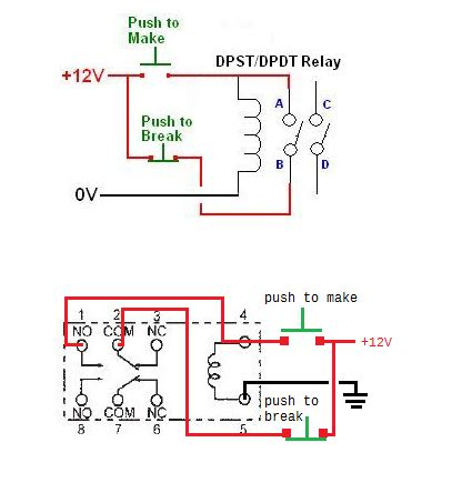 wiring an help with my practice a common relay as