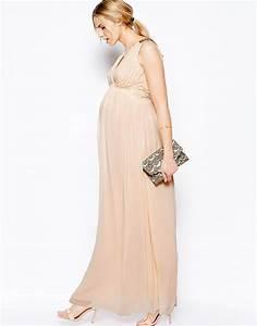 robe de grossesse mouseline pour mariage beige longue la With robe de grossesse pour un mariage