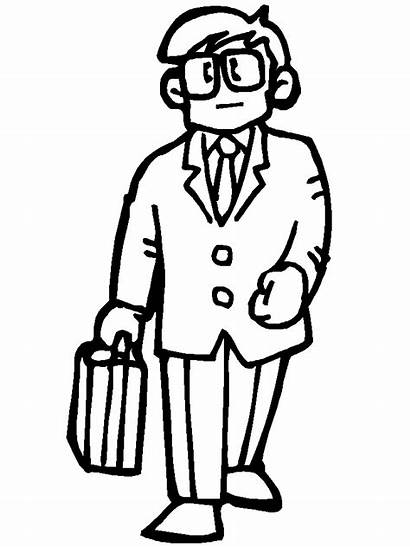 Coloring Pages Person Printable Office2 Outline Office