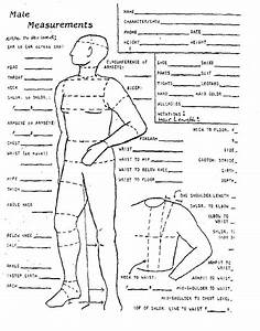 Male Measurement Chart  With Images