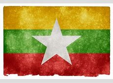 myanmar grunge flag Photo Free Download