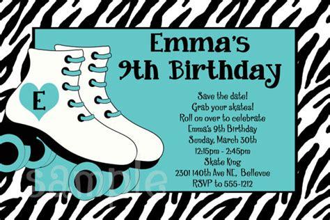 roller skating birthday invitations ideas bagvania