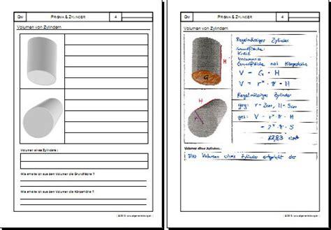 prisma zylinder volumen gratis mathematikgeometrie