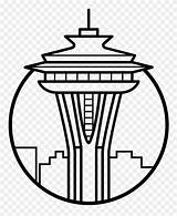Needle Space Icon Pinclipart Seattle Clipart Coloring sketch template