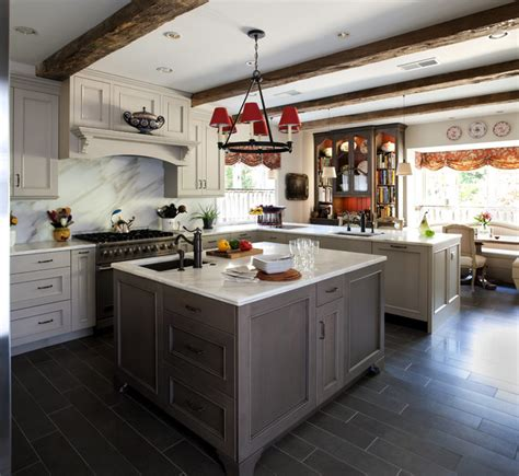 Grey Country Kitchen  Traditional  Kitchen  Dc Metro