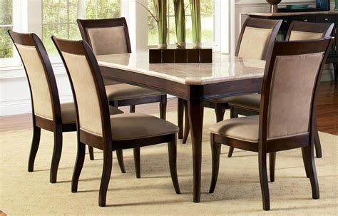 marble and wood dining table contemporary marble top 8 piece dining table and chair set