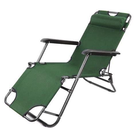 2x folding garden chair outdoor sun lounger deck cing