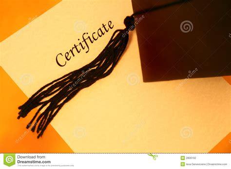 certificate  graduation cap stock photography image