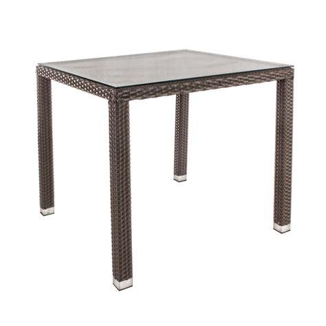 tavoli in rattan sintetico tavolo da esterno aston di bizzotto alluminio e rattan