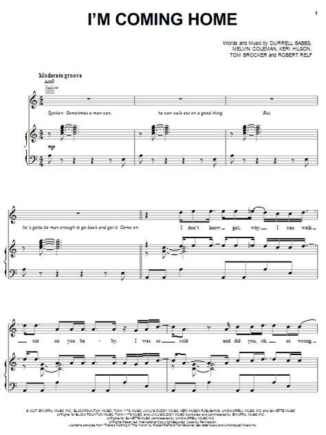 i m coming home sheet music tank piano vocal guitar