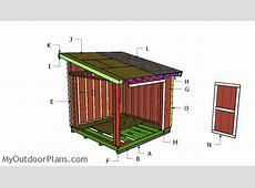 10x10 Lean to Roof Plans MyOutdoorPlans Free