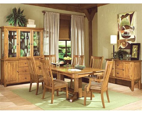 intercon solid oak dining set highland park inhpset