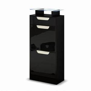 Petit Meuble A Chaussure : petit meuble range chaussures pas cher 2 portes 1 tiroir achille cbc meubles ~ Teatrodelosmanantiales.com Idées de Décoration