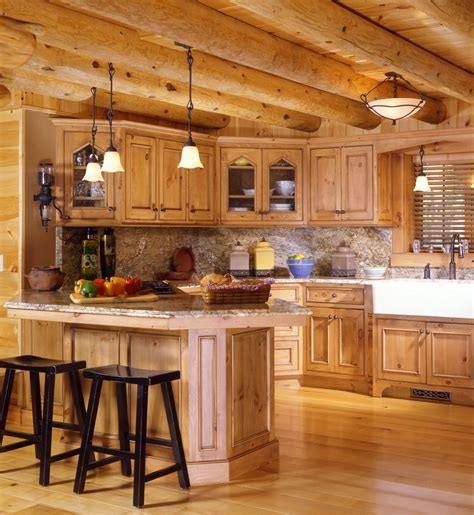 cabin style kitchen cabinets log cabin kitchens with modern and rustic style