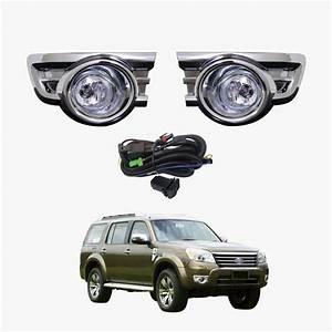 Fog Light Kit For Ford Ranger Pk Ute 2010-2011 Chrome With Wiring  U0026 Switch