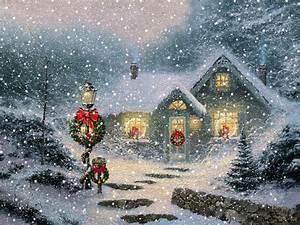 Thomas Kinkade Christmas Wallpapers