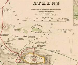 Old Map Of Athens Acropolis Greece 1853 Vintage Map Of Athens