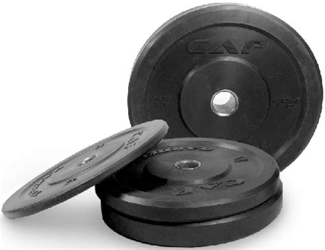 cap olympic virgin rubber bumper plate black