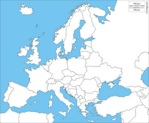 Carte Vierge De L Europe carte de l europe cartes reliefs villes pays ue
