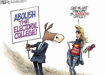 Electoral College Political Cartoons Cartoon Trump Election