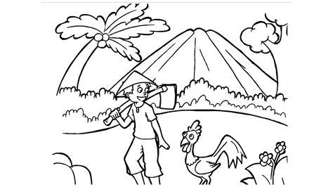 gambar mewarnai gunung kumpulan sketsa mewarnai gambar
