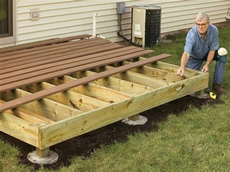 building a deck a patio building wood decks plans deck building plans do yourself