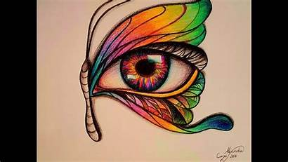 Eye Surreal Drawing Butterfly Surrealistic Drawings Super