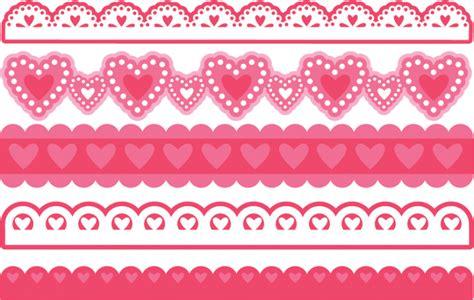 valentine borders svg bundle  scrapbooking cardmaking