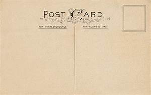 10 Best Images of Vintage Postcard Templates Free - Free ...