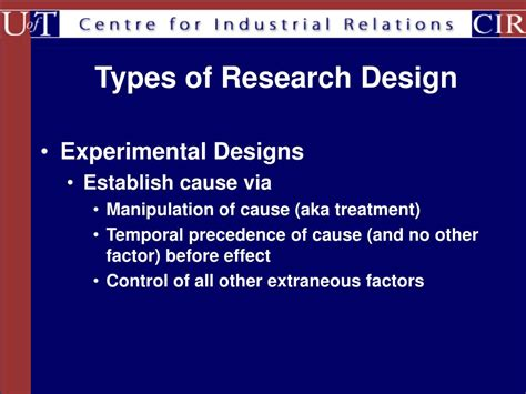 research methods design outline powerpoint