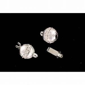 Rhodium plated fastener one raw - Vintage Luk