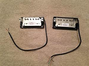 Gibson 490r And 498t 4 Wire Humbucker Pickup Set 2016